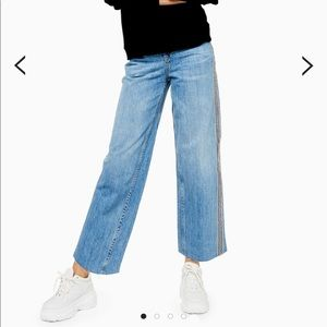 Side stripe Topshop jeans (cropped) size W28L30